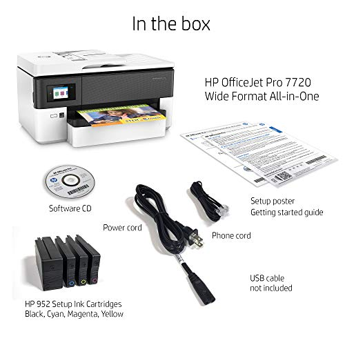 HP OfficeJet Pro 7720 All in One Wide Format Printer with Wireless Printing