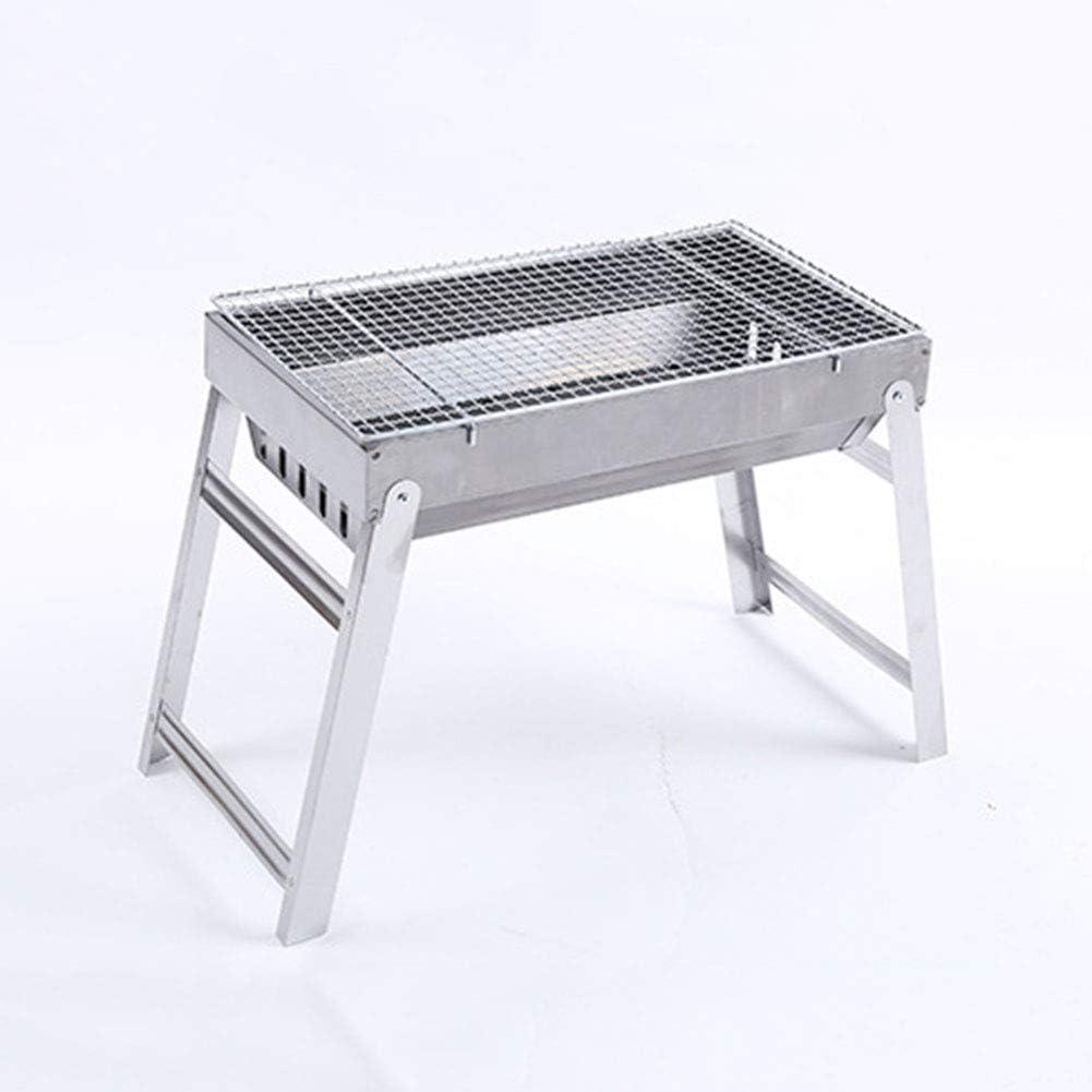 TJLJFTILTIR Barbecue en Acier rectangulaire, Grill Barbecue, Jardin terrasse extérieure,A A