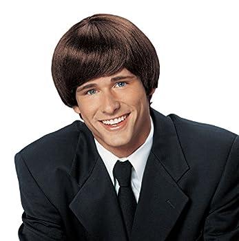 Forum Novelties Men s 60 s Mod Wig Deluxe Brown One Size