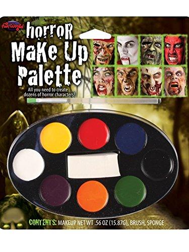 Maquillage Peinture De Visage 8 Palette De Couleurs Halloween Blanc Noir Rouge & Plus Déguisement