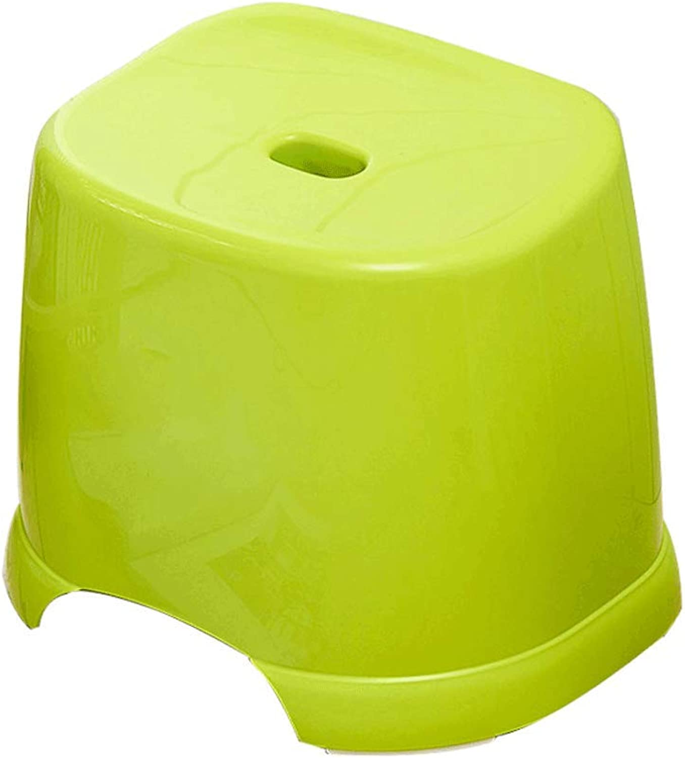 Thicken Bathroom Anti-Slip Stool, Plastic Laundry Living Room Tea Table Green Stool