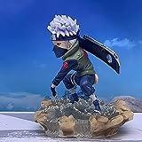 Zpzzy Naruto Hatake Kakashi Estatua Que Lleva Un Cuchillo Versión De Combate Modelo De Personaje De Anime Figura De Acción Estatua De Figura De PVC Modelo De Figura De Anime Regalos/Adornos para Fan