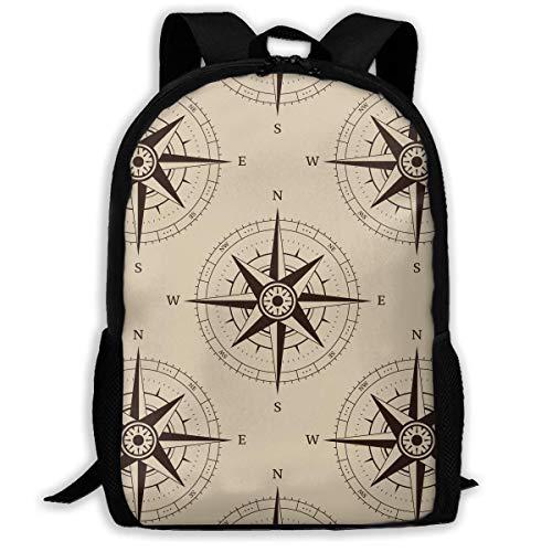 hengshiqi Rucksack Schultasche,Backpack, Travel Backpack Laptop Backpack Large Diaper Bag - Navigation Compass Backpack School Backpack for Women & Men