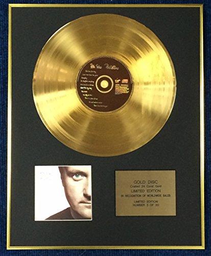 Century Music Awards Phil Collins – Exklusive limitierte Auflage 24 Karat Goldscheibe – beidseitig