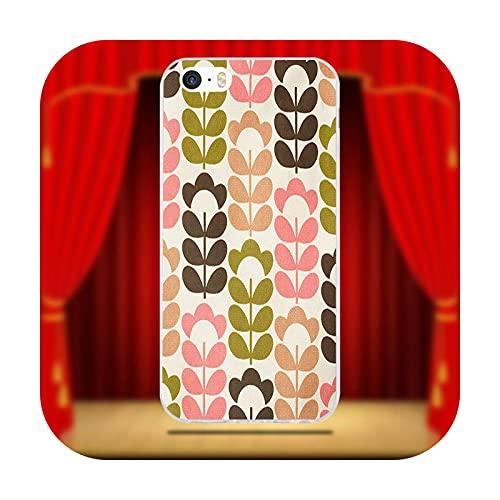 Funda de TPU suave para iPhone X XR XS 11 Pro Max 6 6S 7 8 Plus 5 5S SE 4 4S 5C Orla Kiely Art-Picture 2-Para iPhone 7 Plus