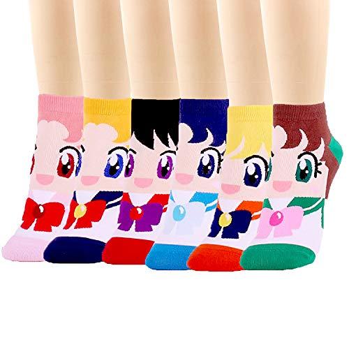 Ksocks - Calcetines - para mujer Sailor Moon Talla única