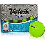 Volvik Crystal 3-Piece Golf Balls - Green