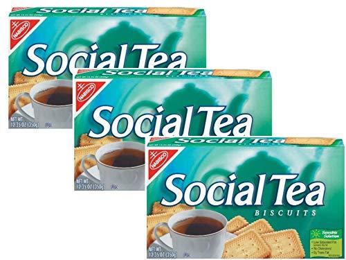 3 boxes - Nabisco Social Tea Biscuits, 12.35 oz per box