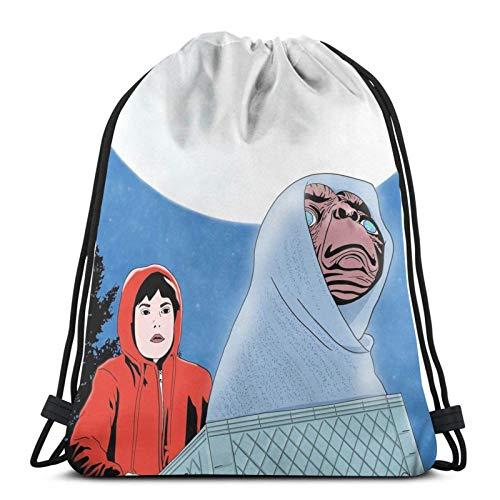 LREFON E.T. The Extra-Terrestrial Sport Sackpack Mochila con cordón Mochila Bolsa de Gimnasio Saco