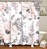 LIVILAN Watercolor Floral Shower Curtain,...