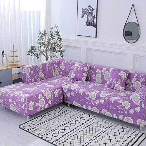 ASCV Funda de sofá Funda de sofá elástica Funda de sofá para Sala de Estar Funda de sofá de Esquina en Forma de L Chaise Longue A8 1 Plaza