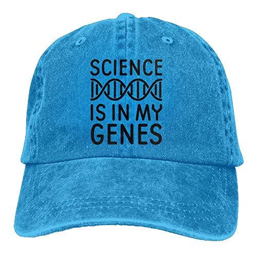 AOHOT Casquette de baseball classique « Science is in My Genes » en denim réglable pour femme