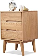MEI XU Nightstand Bedside Table, Large Capacity Three Retractable Bedside Table Small Space Mini Storage Cabinet, Suitable...