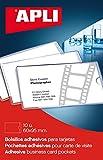 APLI 2580 - Bolsillos porta tarjetas autoadhesivos (95 x 60 mm), 10 unidades