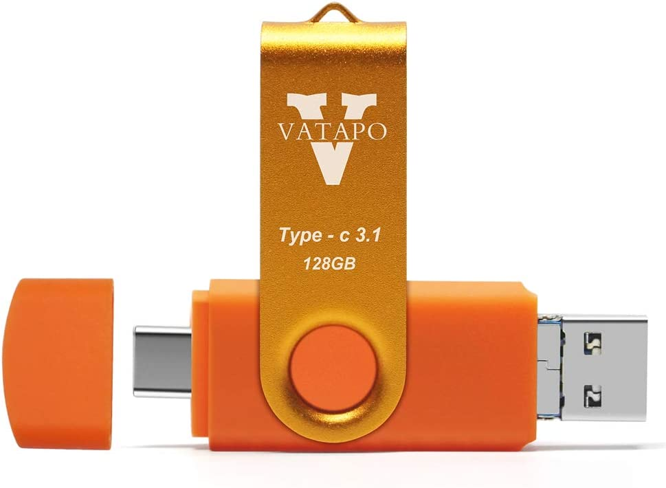 VATAPO 3.1 128GB 3 in 1 High Speed Flash Drive for Android Smartphones with OTG Function,Tablets,Laptop,Desktop,Photo Stick for Samsung Galaxy,LG,Google Pixel,Hua Wei.Moto,One Plus,etc.