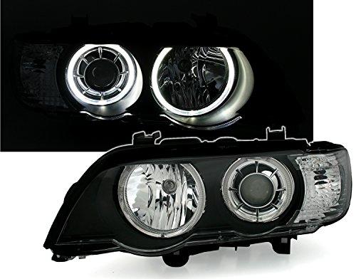 Depo Angel Eyes Scheinwerfer Set Schwarz mit LED weißen Standlichtringen
