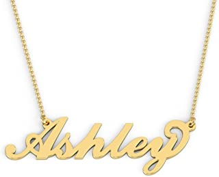 real gold nameplate necklace