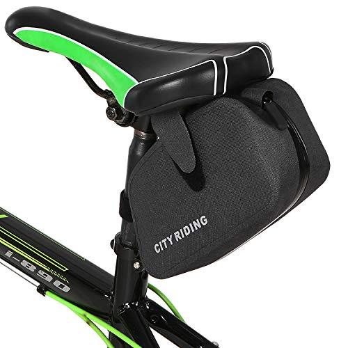Borsa da Reggisella Bici da Ciclismo Borsa da Sella Bici Antipioggia Borsa da Sella Bici da Ciclismo Borse da Sella Bici MTB Borse da Bici Impermeabili Sella(Color:Grigio)