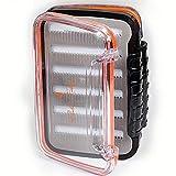 Fladen Angeln – Praktische kompakte Fliegenbox zum Aufbewahren und sicheren Transport Ihrer groben Fliegen, nass und trocken, Maße: 12,5 x 9,5 x 3,2 cm [19-9401]