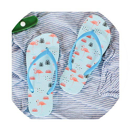 Fashion Women Beach Flip Flops Flamingos Slippers Ladies Comfy Shoes Woman House Pool Slippers Flats,6