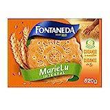Fontaneda Marie Lu - Galletas Integrales con Fibra y Cereales - Formato Familiar en Caja de 520 g