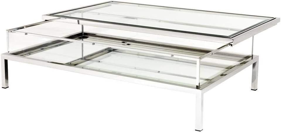 Silver Sliding TOP Rectangular Table EICHHOLTZ Max 63% OFF Coffee Harvey Selling and selling
