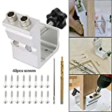 Stronghigheu Pocket Hole Jig Kit Tool System Woodworking Guides Joint Angle Tool Carpentry Locator Craft Screw...
