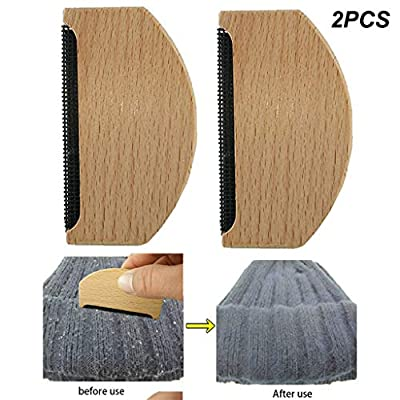Luccase 2 PCS Sweater Wool Cashmere Brush Wooden Toothed Fabric Comb - Remove Garment Pilling/Balls/Fuzz/Lint - for Fine Knitwear Garments Jumpers Clothing