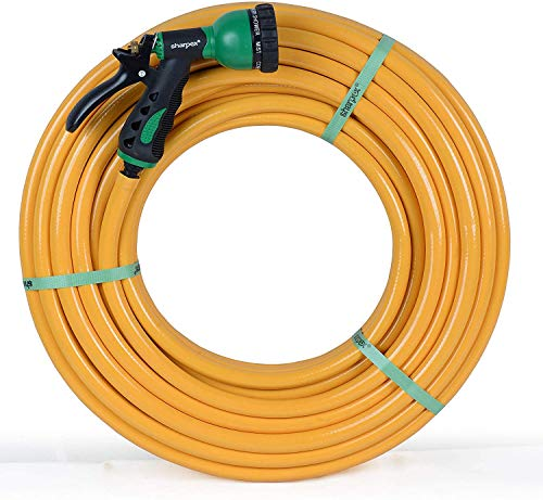 Sharpex Professional Garden Hose Spray Nozzle with 10 MT Pipe (Yellow)