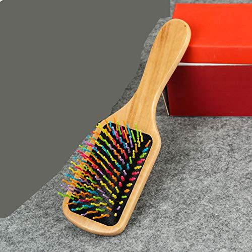 Peine de masaje para el cabello Madera Bambú Cojín antiestático profesional Cepillo para la pérdida de cabello Cepillo para el cabello Peine Cuero cabelludo Cuidado del cabello Saludable 2