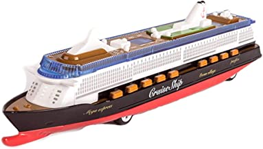 Ailejia 1:1000 Cruise Ship Models Back to Power Functions Boy Toy Yacht Model Music, Lights, Alloy (Black)