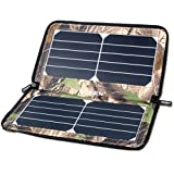 ECEEN Folding Solar Panel Phone Charger with Smart Current Regulate USB Output Charging for Smartphones Speaker Digital Cameras 5V Devices Compact Zipper Pack Portable Foldable