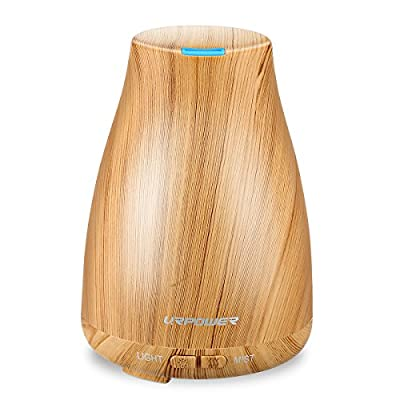 URPOWER 2nd Version Essential Oil Diffuser Aroma Essential Oil Cool Mist Humidifier with Adjustable Mist Mode, Waterless Auto Shut-off and 7 Color LED Lights Changing for Home Office Baby from URPOWER