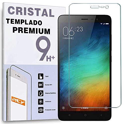 REY Protector de Pantalla para XIAOMI REDMI Note 3 / REDMI Note 3 Pro, Cristal Vidrio Templado Premium