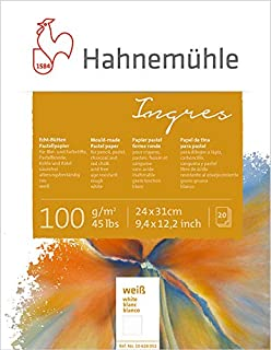 Hahnemuhle Pastel Paper Ingres White Mixed Media Sketch Pad - 100 GSM - 24 * 31 (cm)