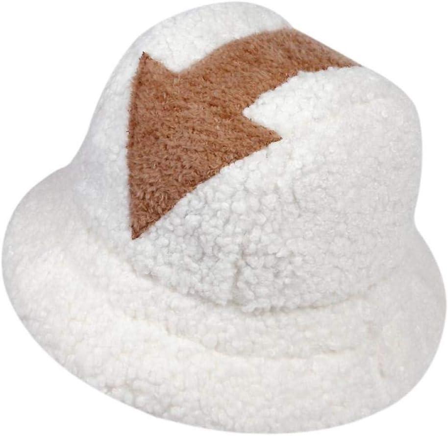 GOUSHENG Eimer Hut Lamm Wolle Hut Winter Warme Angelkappen Faux///Pfeil Symbol Gedruckt Eimer Hut M/änner Frauen Flut Flat Top H/üte