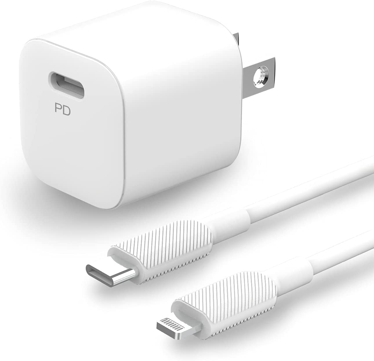 iPhone Charger [Apple MFi Certified] 20W iPhone Charger Block with 6ft Lightning Cable C Cord, USB C Wall Charger Plug Type C Fast Lightning Chargers for iPhone 13/12/11/XS/XR/X/SE/iPad/AirPods Pro