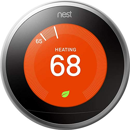 Google Nest Learning Thermostat - 3rd Generation - Smart Thermostat - Pro Version - Works With Alexa