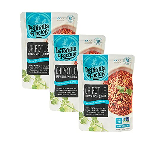 La Tortilla Factory Authentic Side Dishes, Chipotle Brown Rice & Quinoa, 8.5-Ounce, 3 Packages