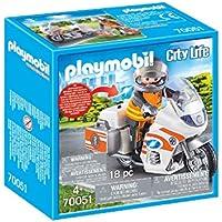 PLAYMOBIL Life City Moto Emergencia, Color carbón (70051)