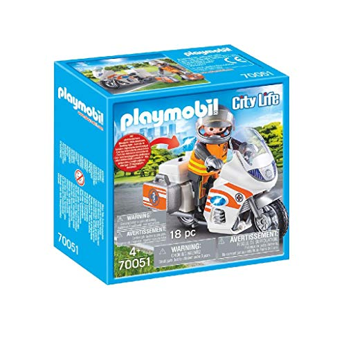 PLAYMOBIL Life City Moto Emergencia