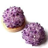MOKACRYSTAL Natural Purple Amethyst Quartz raw Stone Crystal lamp 1pc