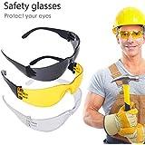 BE-TOOL - Gafas de seguridad para ciclismo (ligeras, con protección UV clase 1, protección CE EN166, antiarañazos, 3 colores)