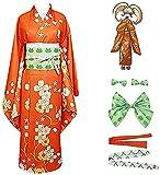Saionji Hiyoko - Disfraz de Halloween para Adultos, Color Naranja