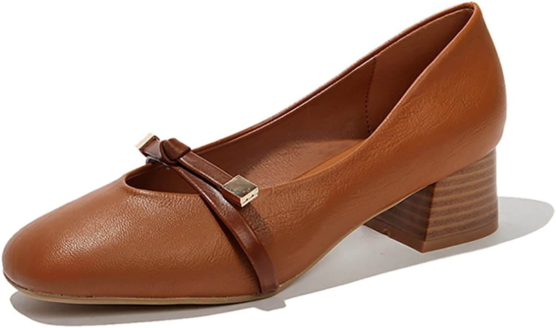 Women's Retro Roman Sandals Fashion Flats shoes ( color   Brown , Size   35 )