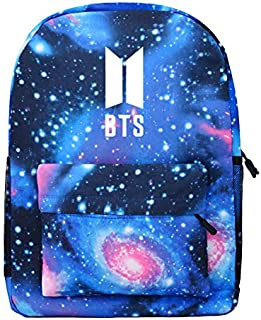 BTS Bangtan Boys Fashion Starry Sky Galaxy Printed Casual Canvas Backpack School Bags Bookbag Children Fashion Shoulder Ba...