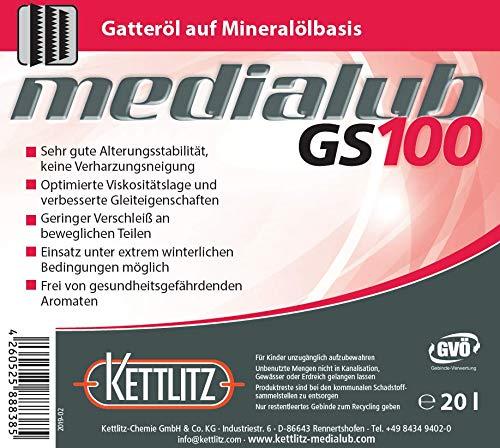 KETTLITZ-Medialub GS100 Gatteröl 20 Liter Kanister - ISO-VG 100