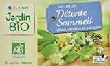 100% Plantes Biologique Fabriquée en France 30g (20 sachets fraîcheur de 1,5g) Infusion Bio Détente et sommeil