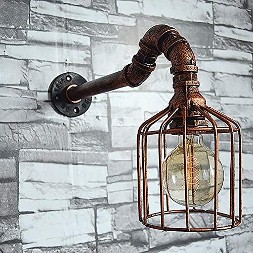 De enige goede kwaliteit Decoratie Vogelkooi Retro Smeedijzeren Muur Lamp Europese Metalen Waterpijp Lampen Handmatige Buis Lamp Industriële Wind Sieraden Villa