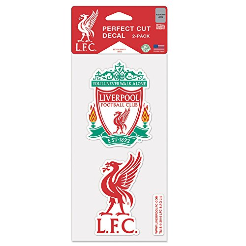 WinCraft Liverpool FC Die Cut Set Of Two 4x4 Decals